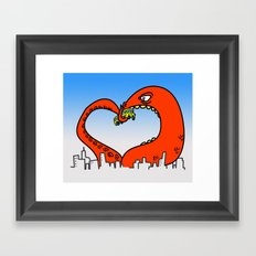 monster love Framed Art Print