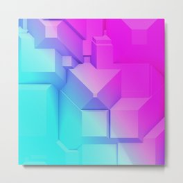 Poly Fun 3B Metal Print