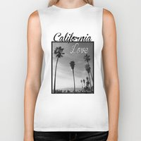 tupac Biker Tanks featuring California Love  by Gold Blood