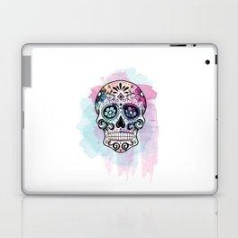 Watercolor Sugar Skull Laptop & iPad Skin