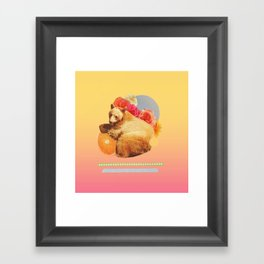 in the warm july sun Framed Art Print