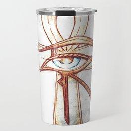 Eye of Horus with Ankh Travel Mug