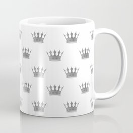Wedding White Silver Crowns Coffee Mug