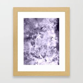 Lavender Gray Carina nEbULa Framed Art Print