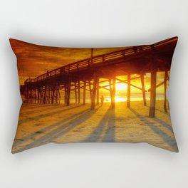 Sunset At The Pier Newport Beach California Rectangular Pillow