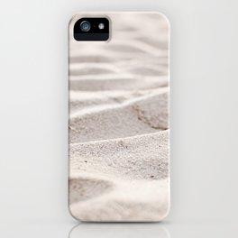 Sand Photography, Beach Photograph, Coastal Photo, Cream Beige Brown Neutral iPhone Case