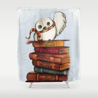 hedwig Shower Curtains featuring Hedwig by Sam Skyler