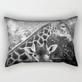 two giraffes Rectangular Pillow