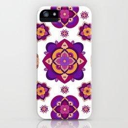 Mandala-Purple and Pink iPhone Case