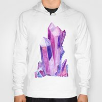 crystal Hoodies featuring Crystal by Christina Guo