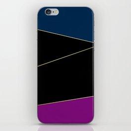 Angelica . Blue , black  , purple iPhone Skin