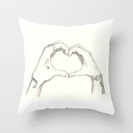Love, Harry and Louis Throw Pillow