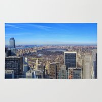 central park Area & Throw Rugs featuring Central Park by Christine Workman