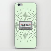 tape iPhone & iPod Skins featuring Tape by Colleen Sweeney