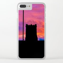 Sunset Over The City Clear iPhone Case
