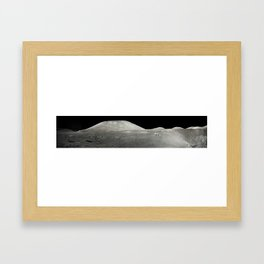 Moon Station 4 Panorama Framed Art Print