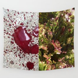 Dog's blood & spotted trout lettuce Wall Tapestry