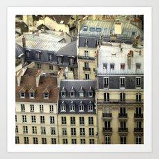 Paris Rooftop #2 Art Print