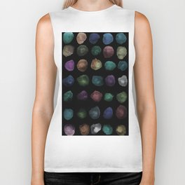 Watercolor, watercolour texture, abstract paint stains beautiful black background Biker Tank