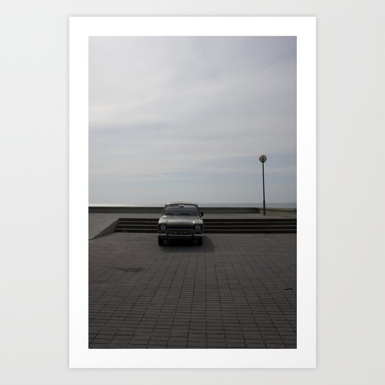 Lonely cars Art Print