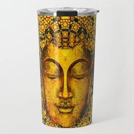 ART DECO DARK GOLD BUDDHA BLACK ABSTRACT Travel Mug