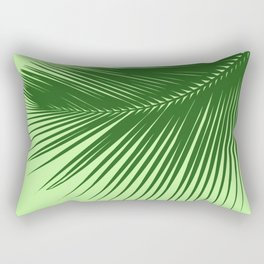 Large Palm Leaf, Emerald and Lime Green Rectangular Pillow