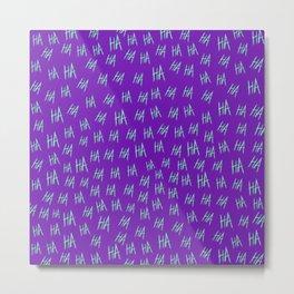Crazy Harara Purple Metal Print
