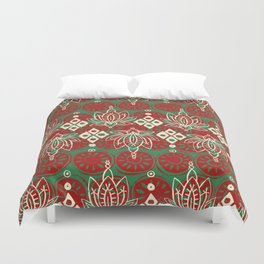 lotus diamond christmas Duvet Cover