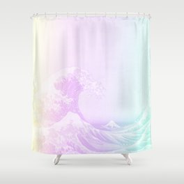 Great Vaporwave Off Kanagawa Shower Curtain