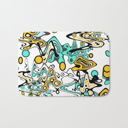 Multicolored abstract pattern Bath Mat
