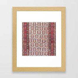 Kurdish Azerbaijan Northwest Persian Carpet Print Framed Art Print