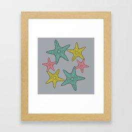 Starfish gray background Framed Art Print