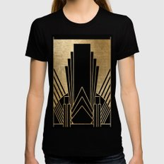 Art deco design Womens Fitted Tee X-LARGE Black