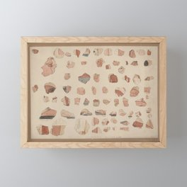Painted plaster fragments from Amarna, 1930s Framed Mini Art Print