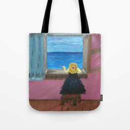 Woman at the Window at Figueres Tote Bag