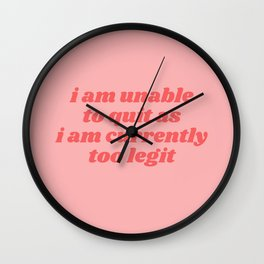 unable to quit Wall Clock