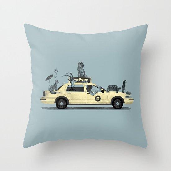 1-800-TAXI-DERMY Throw Pillow