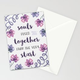 souls fused together from the very start Stationery Cards