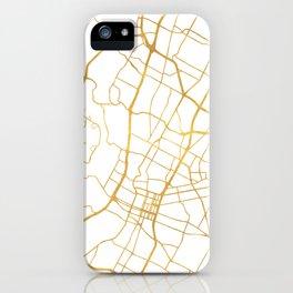 AUSTIN TEXAS CITY STREET MAP ART iPhone Case