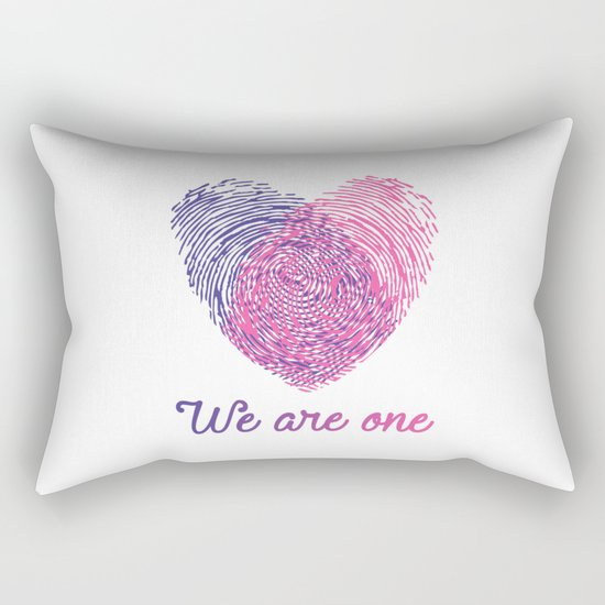 We are one - Valentine love Rectangular Pillow