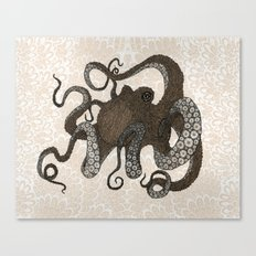 Brown Octopus Canvas Print