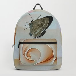 Butterfly on Pink Rose Backpack