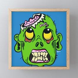 Zombie Brains Pop Framed Mini Art Print