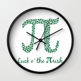 Luck 'o the Pi-rish Wall Clock