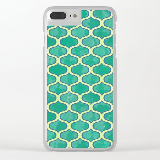 Watercolor Lovely Pattern VVV Clear iPhone Case