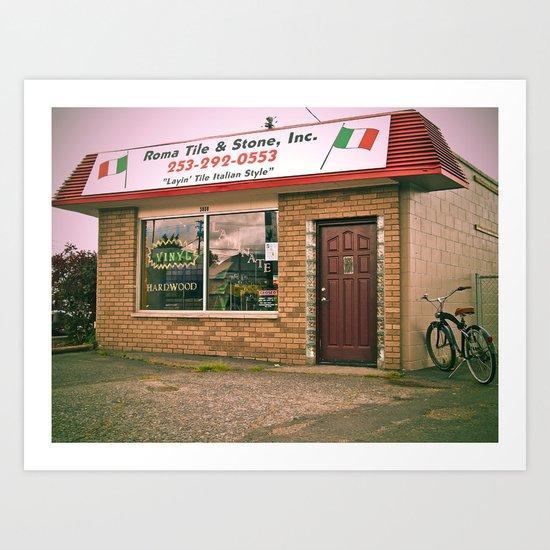 Layin' tile Italian style Art Print