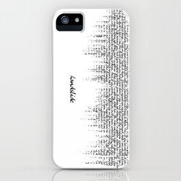 Landslide Soundwave - with Lyrics iPhone Case
