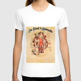 Vintage Be Kind To Animals - Girl T-shirt