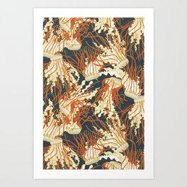 jellyfish slate Art Print