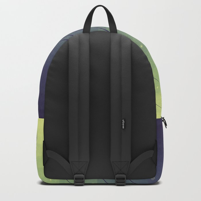 Purple Algae Plants In Green Water Backpack